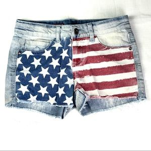 Arizona Jean cut off shorts with Stars and Stripes